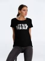 Футболка женская Star Wars Silver, черная с серебристым