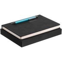 Набор Magnet с ежедневником, черный с голубым