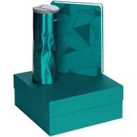 Набор Gems: ежедневник и термостакан, бирюзовый