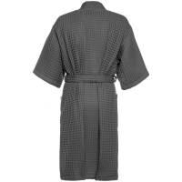 Халат вафельный мужской Boho Kimono, темно-серый (графит)