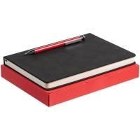 Набор Magnet с ежедневником, черный с красным