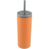 Термостакан Superb Sippy с трубочкой, оранжевый