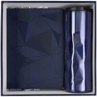 Набор Gems: ежедневник и термостакан, темно-синий