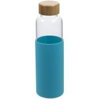 Бутылка для воды Dakar, прозрачная с бирюзовым