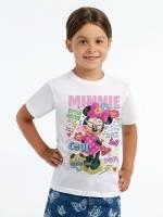 Футболка детская Minnie Covergirl, белая