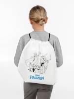 Рюкзак-раскраска с мелками Frozen, белый