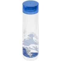 Бутылка для воды «Не разлейся вода», прозрачная с синей крышкой
