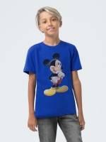 Футболка детская Mickey Mouse, ярко-синяя