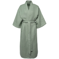Халат вафельный женский Boho Kimono, зеленая мята
