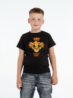Футболка детская Future King, черная