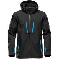Куртка софтшелл мужская Patrol, черная с синим