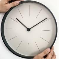 Часы настенные Willow, серо-бежевые