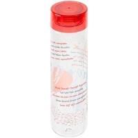 Бутылка для воды «Шпаргалка. Неправильные глаголы», прозрачная с красной крышкой