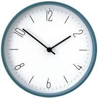 Часы настенные Floyd, голубые с белым