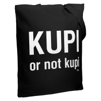 Холщовая сумка Kupi Or Not Kupi, черная