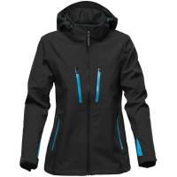 Куртка софтшелл женская Patrol, черная с синим