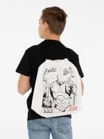 Рюкзак-раскраска с мелками Iron Man, белый