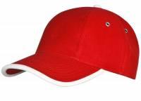 Бейсболка Unit Trendy, красная с белым, уценка