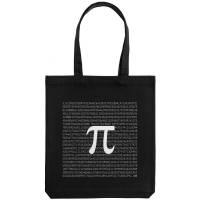 Холщовая сумка «Почти полный Пи», черная