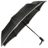 Зонт складной Gear, черный с темно-серым