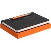 Набор Magnet с ежедневником, черный с оранжевым