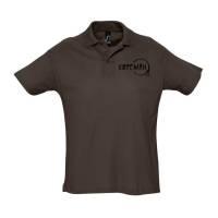 Рубашка поло «Кофеман», шоколадно-коричневая