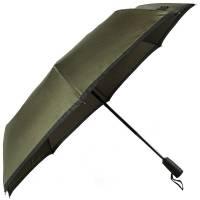 Зонт складной Gear, темно-зеленый (хаки) с черным