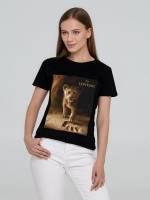 Футболка женская Lion King Footprint, черная