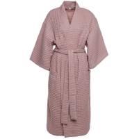 Халат вафельный женский Boho Kimono, пыльно-розовый