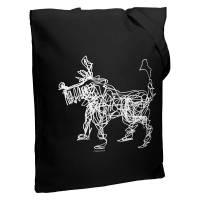Холщовая сумка «Собака Каляка», черная