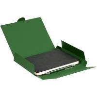 Набор Magnet с ежедневником, черный с зеленым
