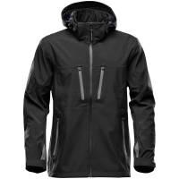 Куртка софтшелл мужская Patrol, черная с серым
