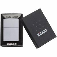 Зажигалка Zippo Classic Satin, серебристая