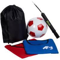 Набор для игры в футбол On The Field, с красным мячом