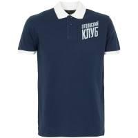 Рубашка поло «Отцовский клуб», темно-синяя с белым