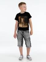 Футболка детская Lion King Footprint, черная