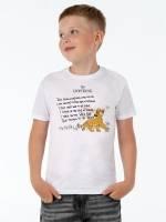 Футболка детская Simba's Song, белая