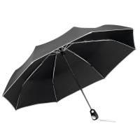 Складной зонт Drizzle, черный с белым