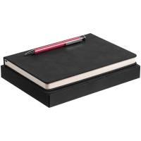 Набор Magnet с ежедневником, черный с розовым