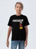 Футболка детская Mickey, черная