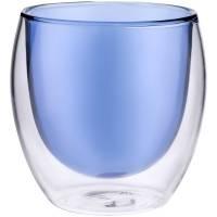 Стакан с двойными стенками Glass Bubble, синий