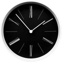 Часы настенные Baster, черные с белым