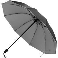 Зонт складной Silvermist, черный с серебристым