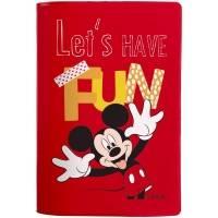 Обложка для паспорта Fun Mickey, красная