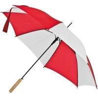 Зонт-трость Milkshake, белый с красным