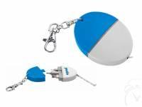 Брелок-рулетка 1 м с набором отверток, белый/синий