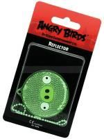 Светоотражатель Angry Birds, зеленый круг, в блистере