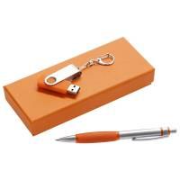 Набор Notes: ручка и флешка, оранжевый