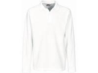 """Рубашка поло """"Cotton"""" мужская с длинным рукавом белый"""