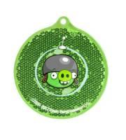 Светоотражатель Angry Birds Space, зеленый круг, в блистере
